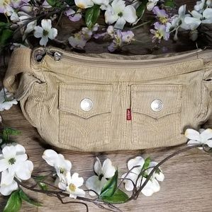 Vintage Levi's tan corduroy shoulder bag purse